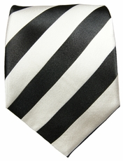 Paul Malone Club Tie in Black and Silver (832)
