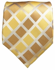 Paul Malone Designer Silk Tie, Gold Brown (484)