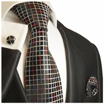 Paul Malone Silk Necktie & Accessories (853CH)