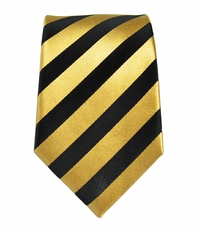 Paul Malone SLIM TIE . 2.5' wide . 100% Silk . Black and Gold