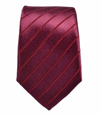 Paul Malone SLIM TIE . 2.5' wide . 100% Silk . Burgundy