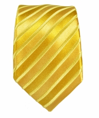 Paul Malone SLIM TIE . 2.5' wide . 100% Silk . Gold