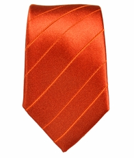 Paul Malone SLIM TIE . 2.5' wide . 100% Silk . Orange