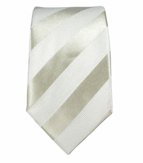 Paul Malone SLIM TIE . 100% Silk . Silver, White