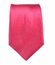Paul Malone SLIM TIE . 2.5' wide . 100% Silk . Solid Hot Pink (Slim505)