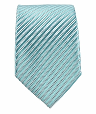 Paul Malone SLIM TIE . 2.5' wide . 100% Silk . Turquoise