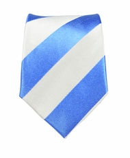 Paul Malone Slim Tie . 2.5' wide . Blue and White Stripes (Slim413)