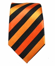 Paul Malone Slim Tie . 2.5' wide . Orange and Black