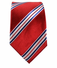 Paul Malone Slim Tie . 2.5' wide . Red, White and Blue