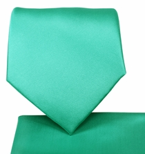 Marine Green Necktie and Pocket Square Set (Q100-TT)