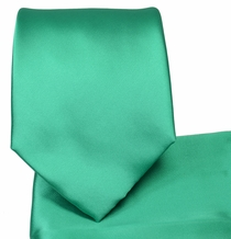 Persian Green Necktie and Pocket Square Set (Q100-TT)