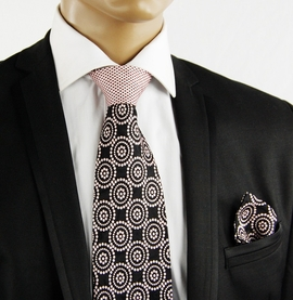 Pink a. Black Contrast Knot Tie by Steven Land