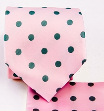 Pink and Gray Necktie Set (Q487-M)