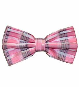 Pink and Grey Patterned Bow Tie Set (BT438-K)