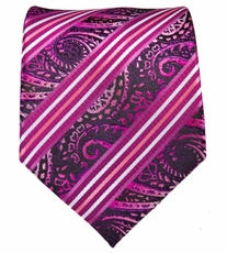 Pink and Purple Mens Tie