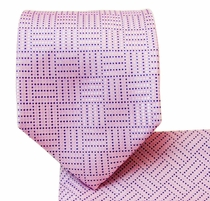 Pink Necktie and Pocket Square Set (Q504-G)