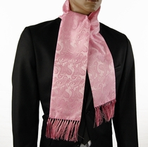 Pink Paisley Men's Fashion Scarf (SC276-D)
