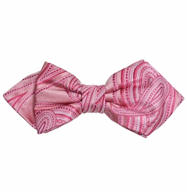Pink Paisley Silk Bow Tie by Paul Malone Red Line
