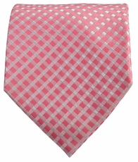 Pink Patterned Men's Necktie
