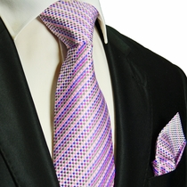 Pink Silk Tie and Pocket Square . Paul Malone Red Line