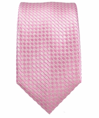 Pink Slim Silk Necktie by Paul Malone
