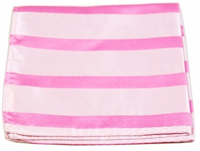 Pink Striped Pocket Square (H092)