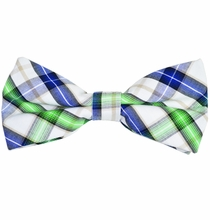 Plaid Cotton Bow Tie by Paul Malone Red Line