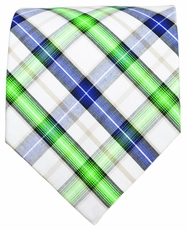 Plaid Cotton Necktie by Paul Malone Red Line