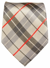Plaid Silk Necktie by Paul Malone . 100% Silk (983)