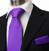 Purple Necktie & Pocket Square (Q67)