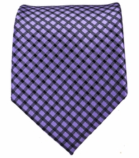 Purple and Black Mens Tie