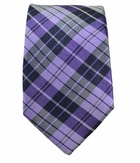 Purple and Black Slim Silk Tie by Paul Malone