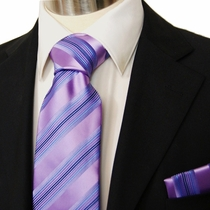 Purple and Blue Men's Necktie Set (Q10)