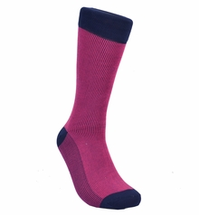 Purple and navy Cotton Socks by Paul Malone