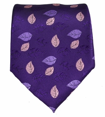 Purple Floral Mens Necktie
