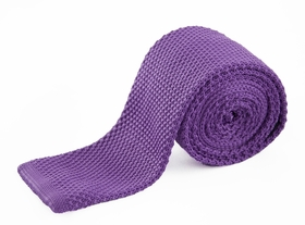 Purple Knit Tie by Paul Malone (KN652)