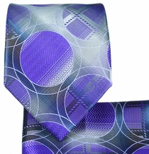 Purple Necktie and Pocket Square Set