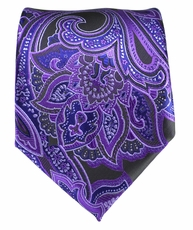 Purple Paisley Men's Tie