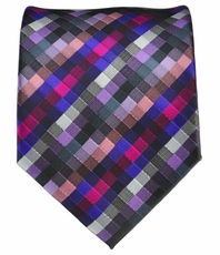 Purple Patterned Men's Necktie