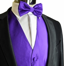 Purple Tuxedo Vest Set by Milani (V67)