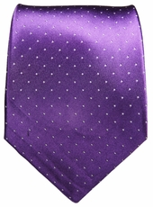Purple & White Polka Dots Paul Malone Silk Tie (806)