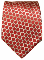 Red and Gold Paul Malone Silk  Necktie (300)