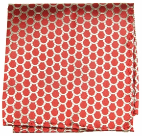 Red and Gold Pocket Square (H300)