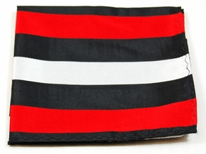 Red, Black and Silver Mens Silk Pocket Square (H410)