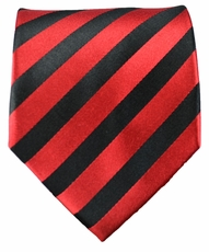 Red & Black Striped Paul Malone Silk Tie (452)