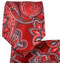 Red Paisley Men's Tie and Pocket Square Set