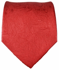 Red Paisley Paul Malone Silk Tie (541)