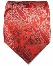 Red Paul Malone Silk Necktie (926)