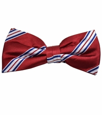 Red, White and Blue Bow Tie by Paul Malone . 100% Silk