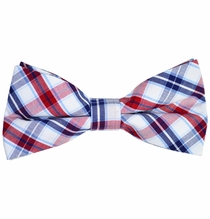 Red, White and Blue Cotton Bow Tie by Paul Malone